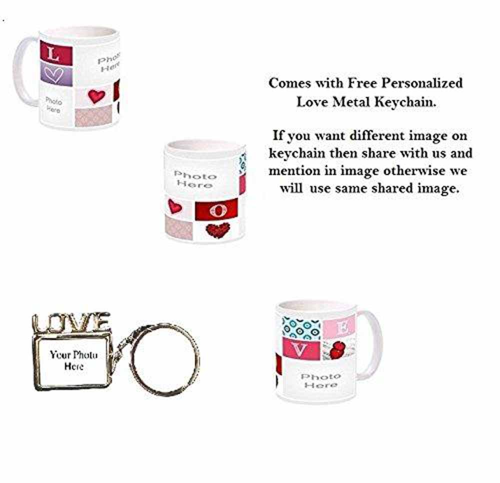 Love Collage - Three Pictures Personalization Coffe Mug Gift
