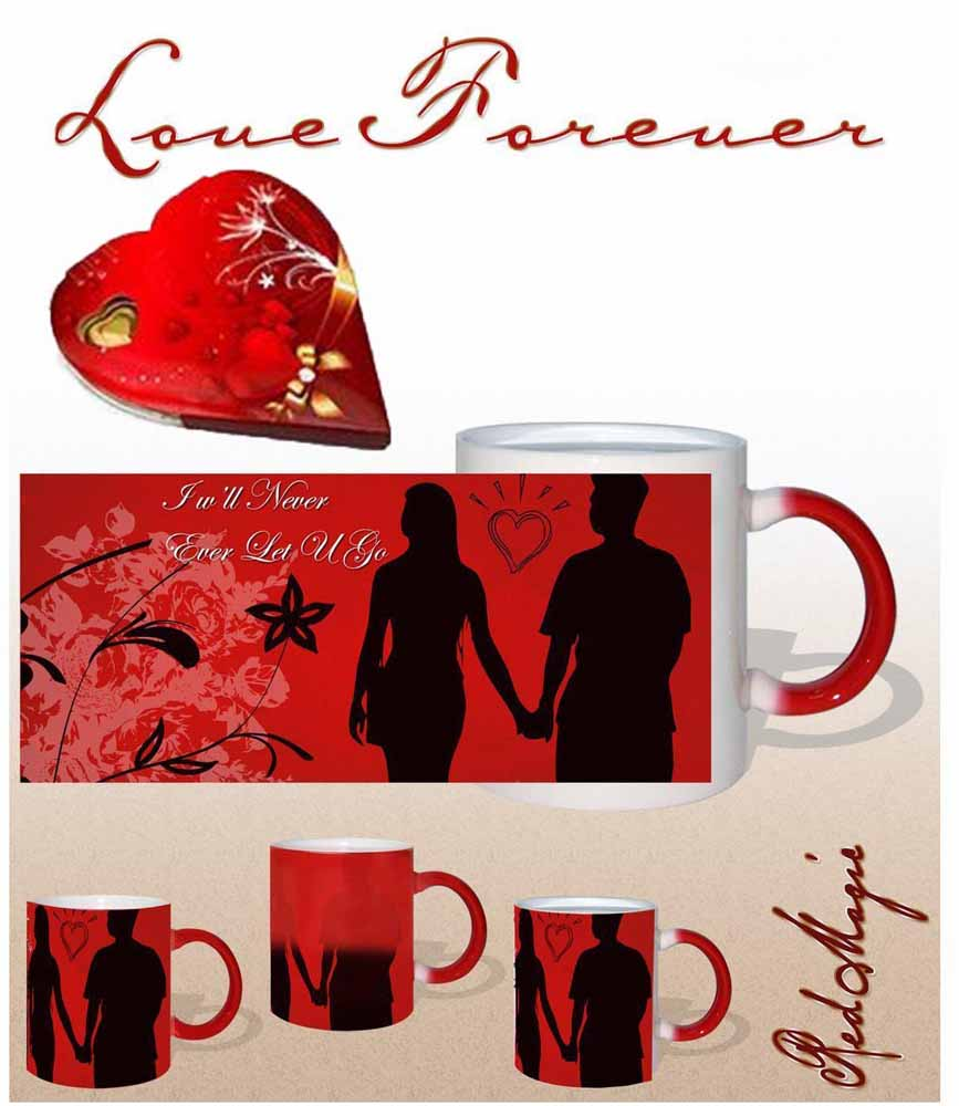 Never Let You Go Red Magic Mug Gift