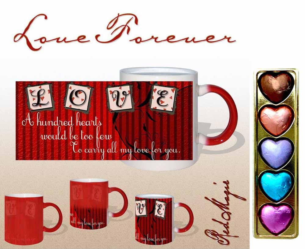 A Hundred Hearts Red Magic Mug Gift