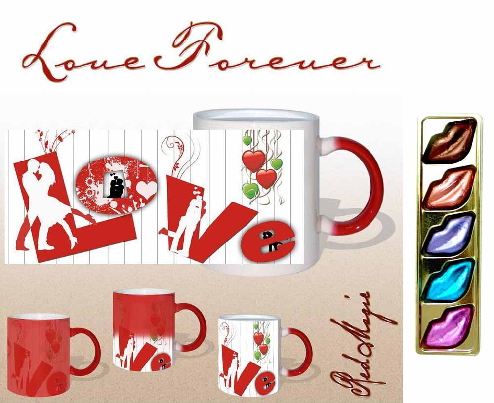 Love Forever Red Magic Mug Gift