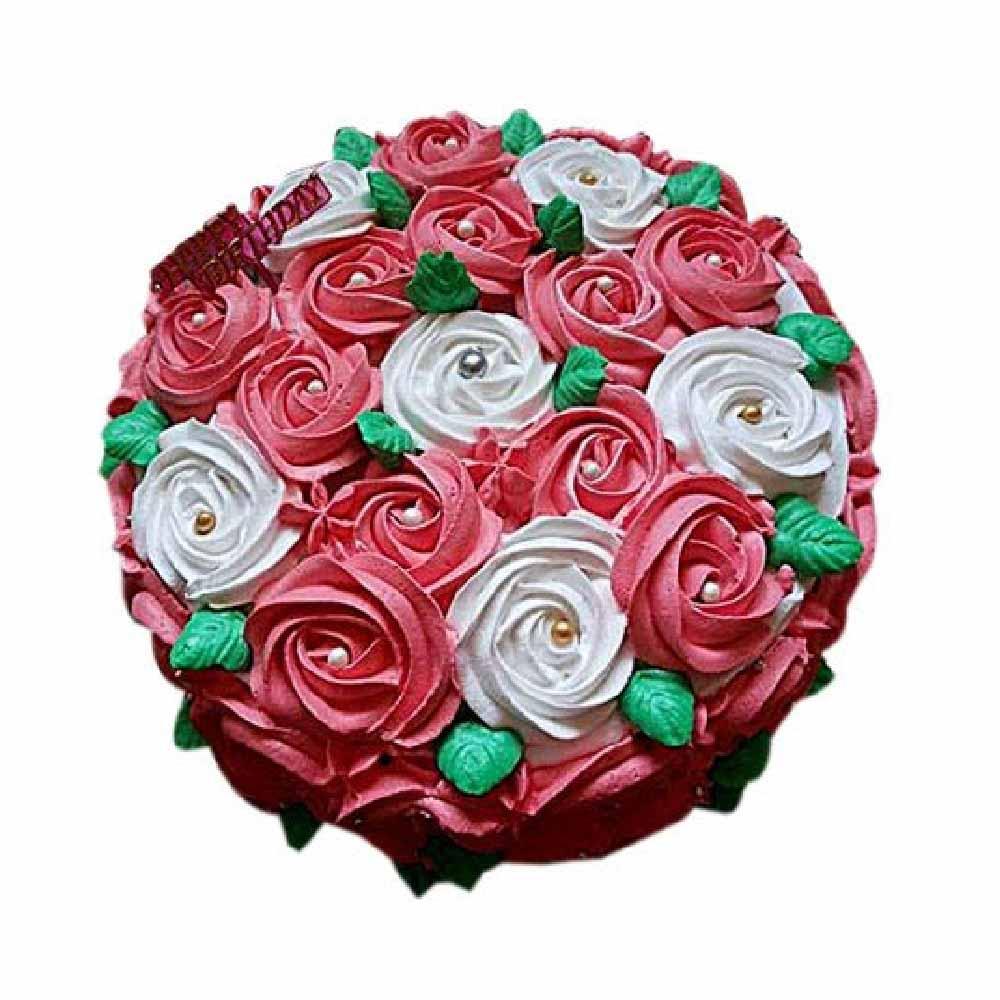 Half kg Swirl Roses Cake