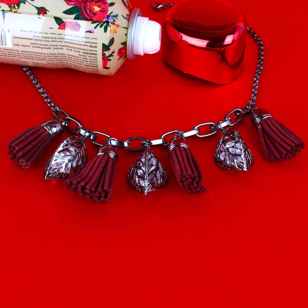 Love Gift of Leather Tassel Necklace