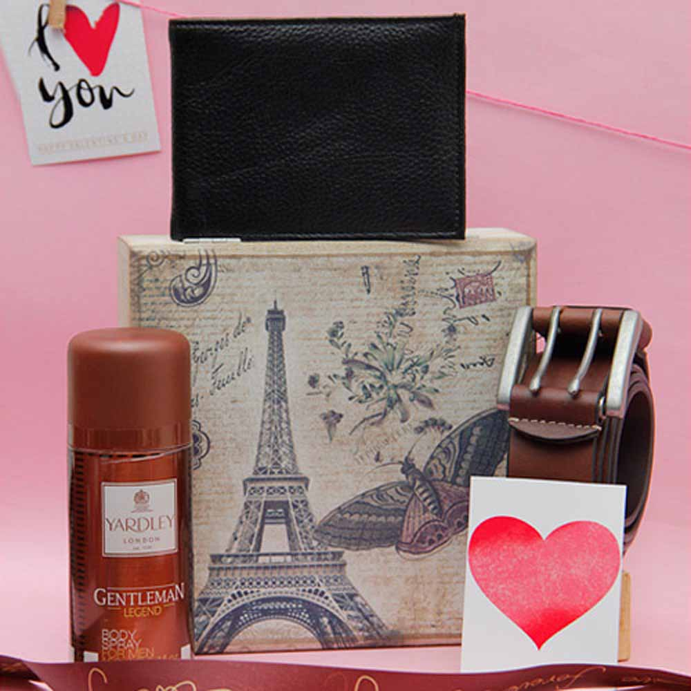 Yardley Perfume With Leather Wallet and Belt