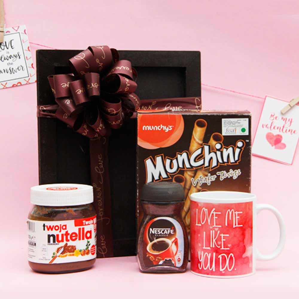 Nutella Box With Nescafe Coffee and Mug