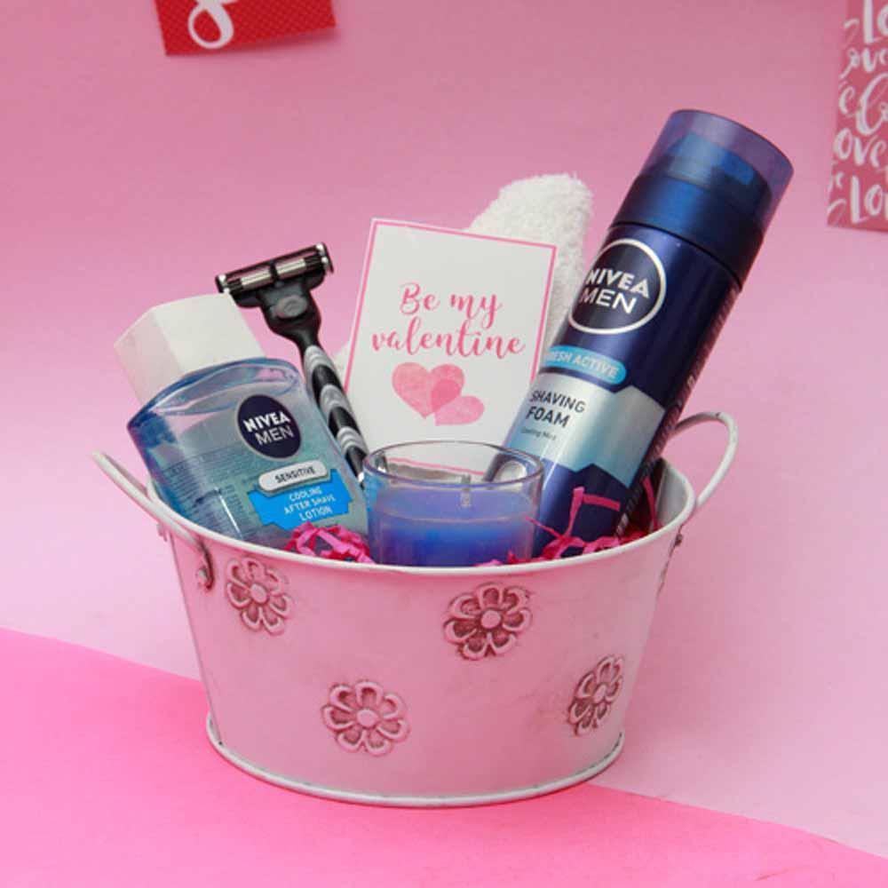 Nivea Shaving Essentials For Men in a Basket