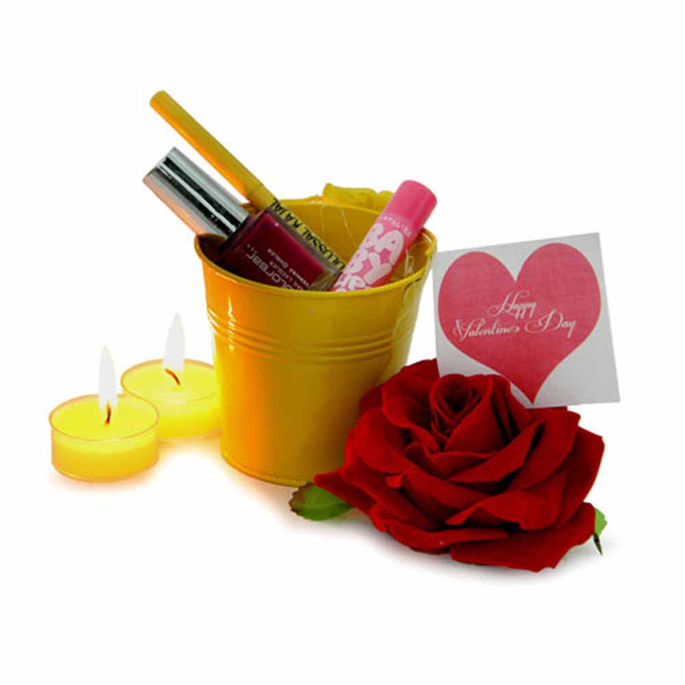 Make Up Gift Bucket Valentine