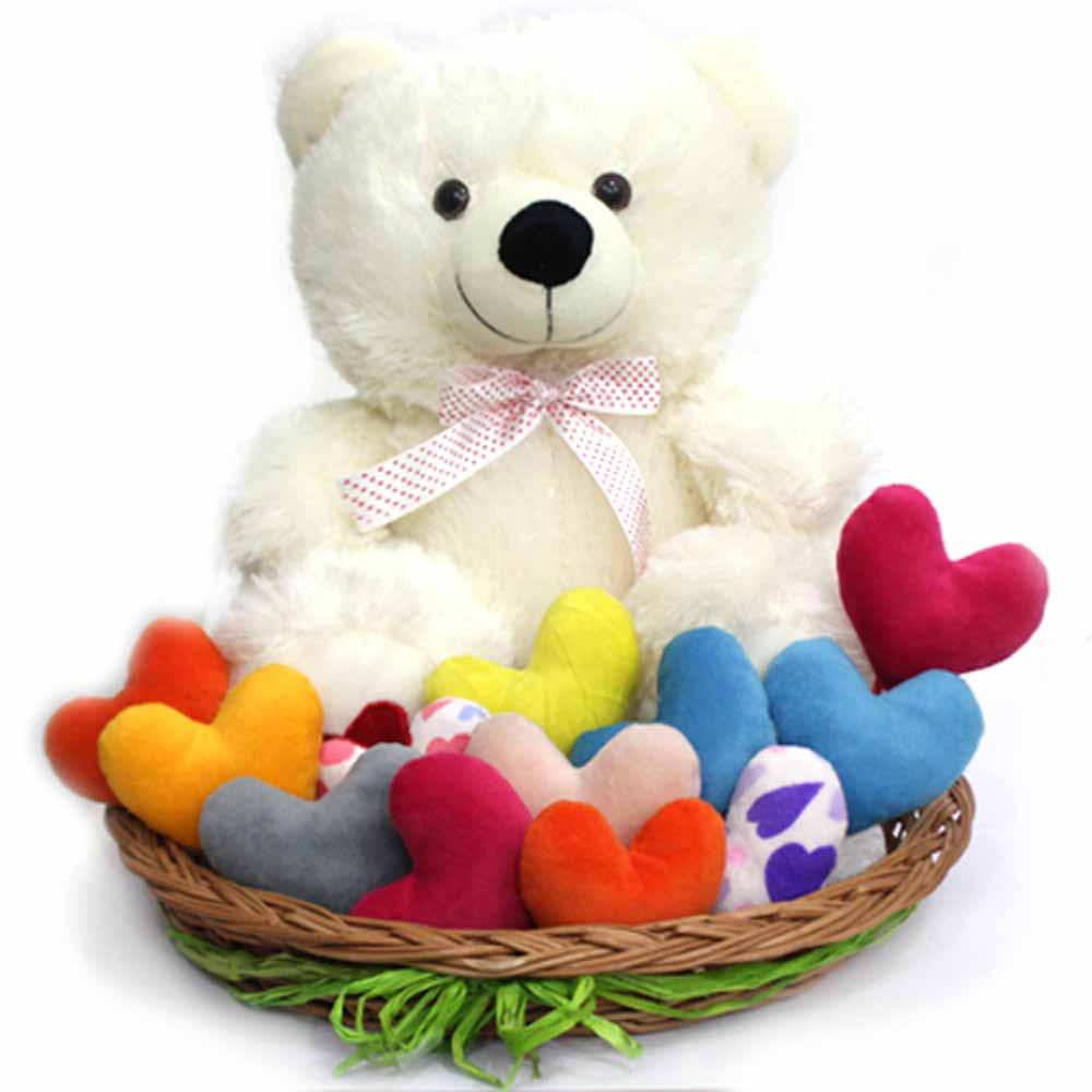Colorful Hearts N Teddy