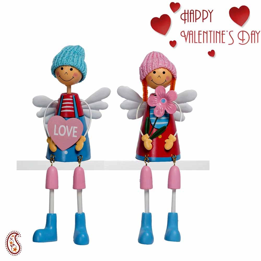 Blue & Pink Shade Wonderful Twin Dolls