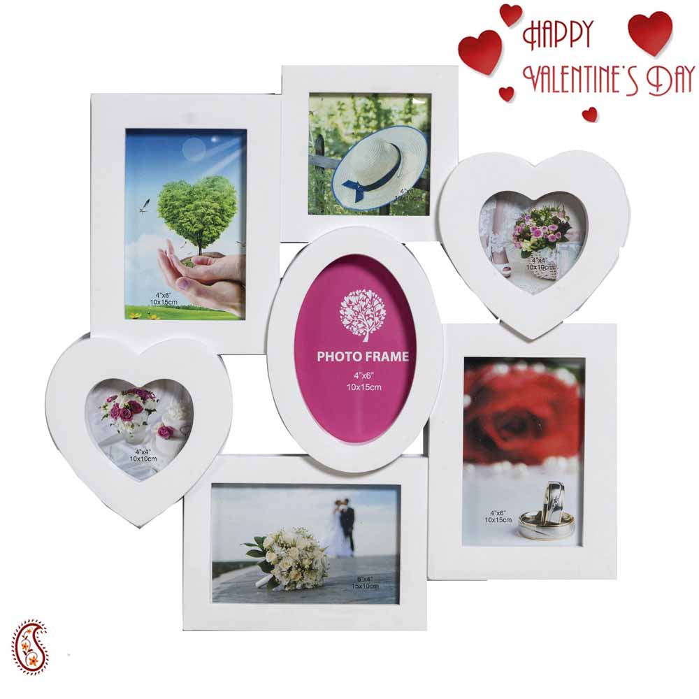 Soothing White Collage Photoframe for Beautiful Memories