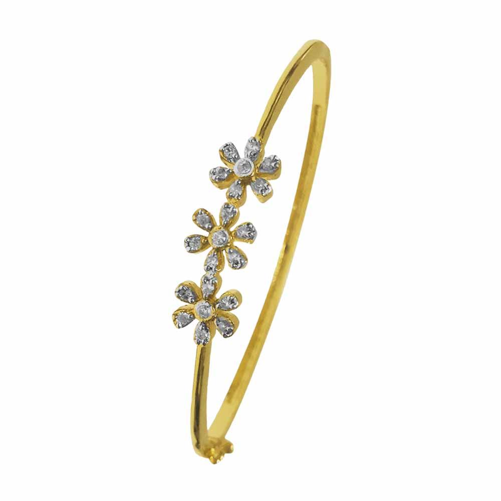 Cz Studded flower Bracelet
