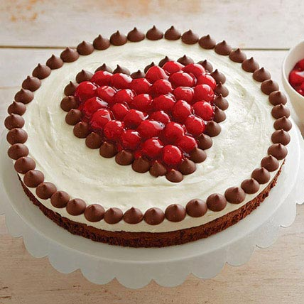 Cherries and Chocolate Cake