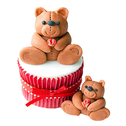 All India Cakes-Teddy Love Cupcakes