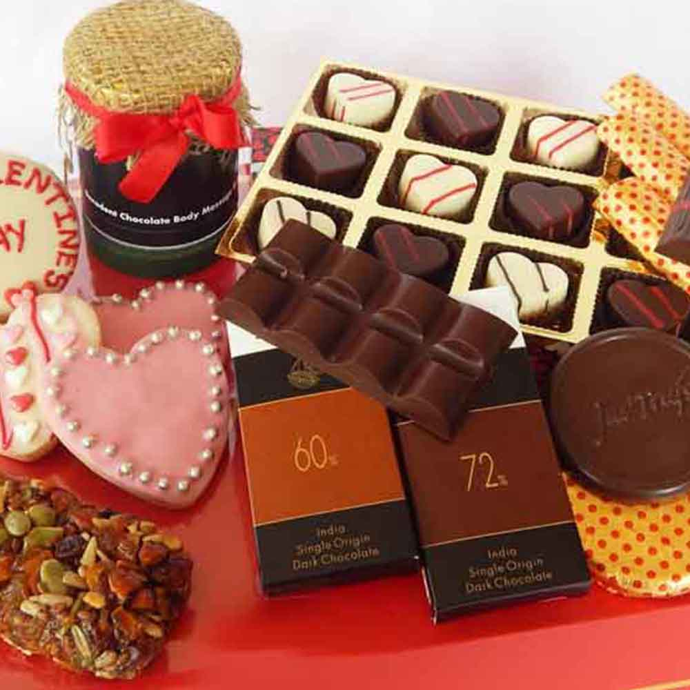Valentines Day Artisanal Healthy Valentine Chocolate Hamper