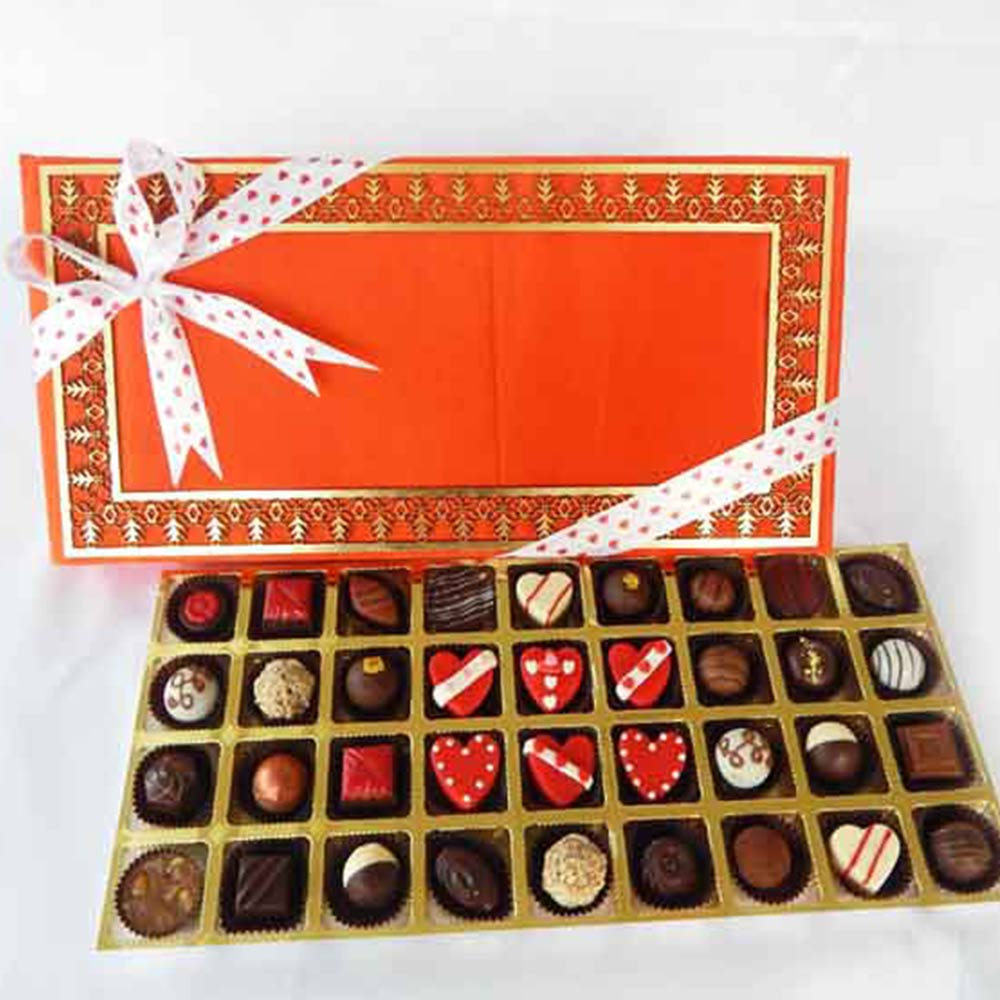 Assorted Chocolate Truffles Valentines Day Treat box of 36
