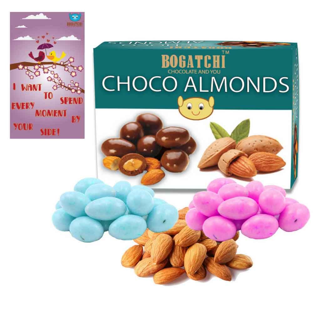 Pink Blue Choco Almonds