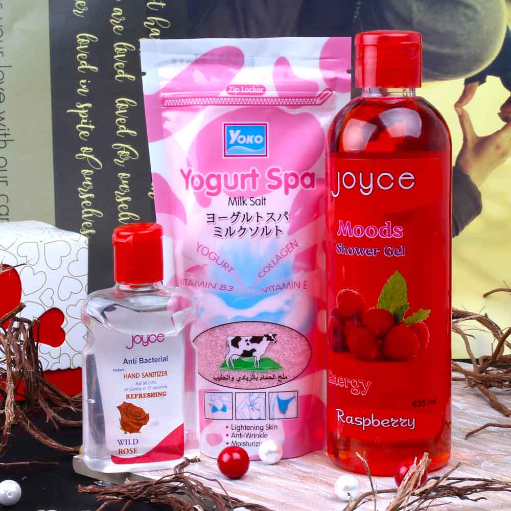 Yogurt Spa with Joyce Sanitizer and Shower Gel for Her