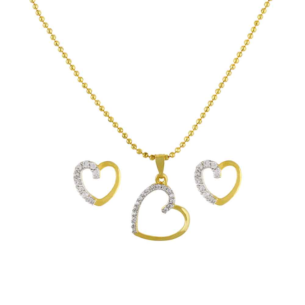 Lovely Heart Pendant Set