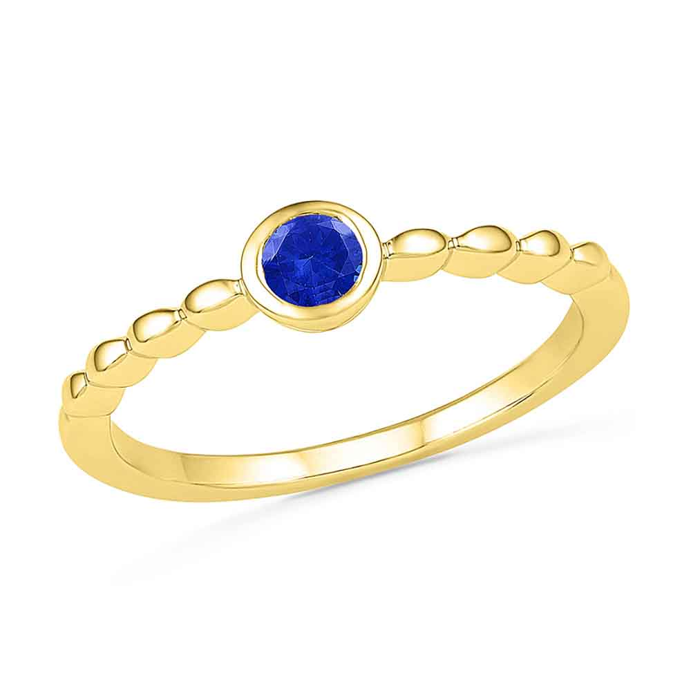 Electrifying Bluesapphire Finger Ring