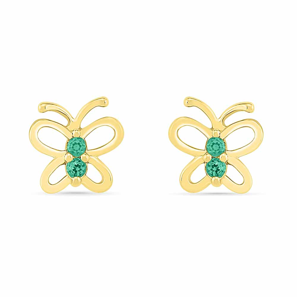 Butterfly Emerald Earrings