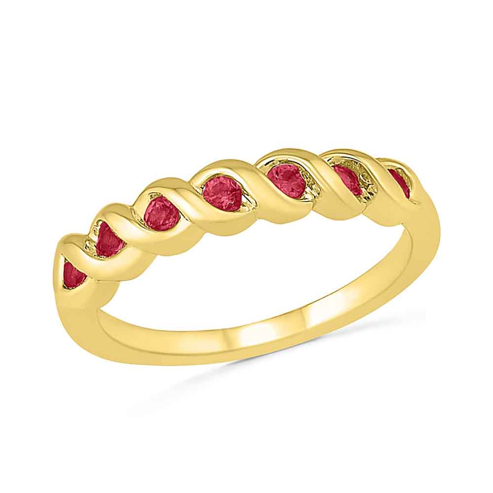 Trendy Ruby Finger Ring
