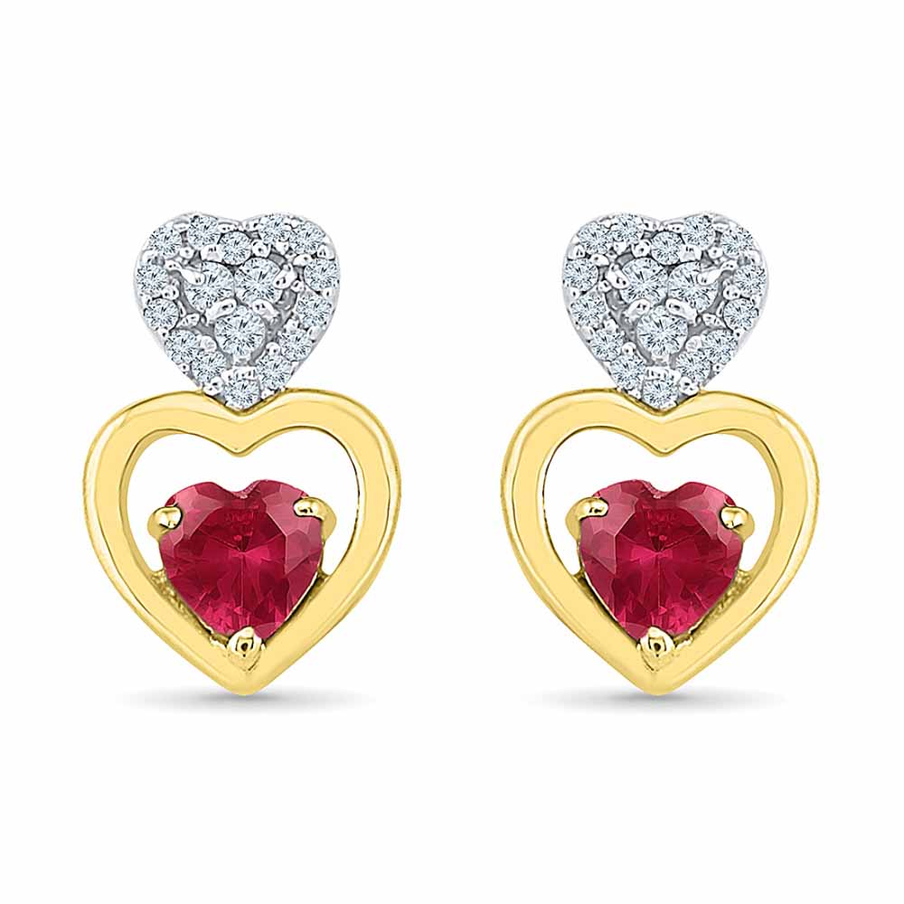 Sweet Heart Diamond Earrings
