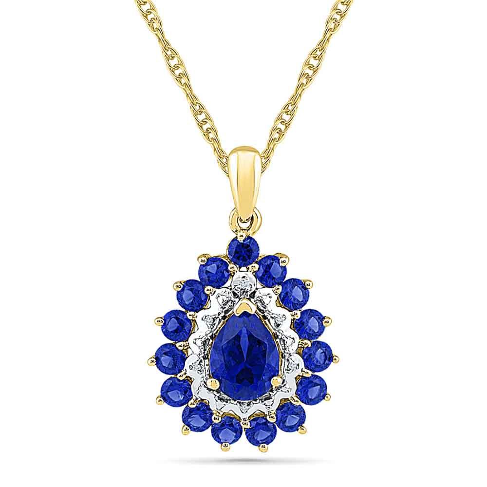 Glamorous Blue Sapphire Pendant