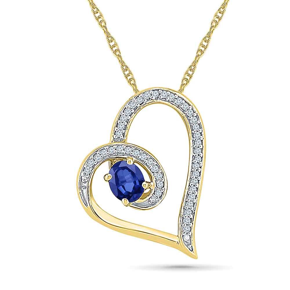 Lavish Blue Sapphire Pendant