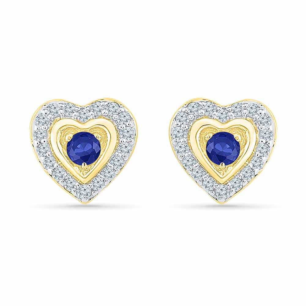 Cutie Blue Sapphire Earrings