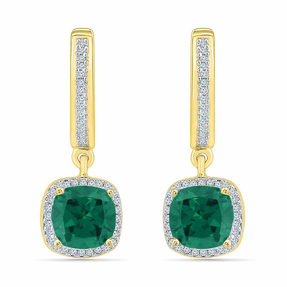 Perfect Emerald Diamond Earrings