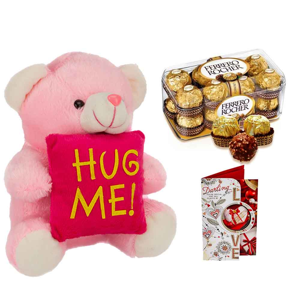Ferero Rocher with Hug me Teddy bear