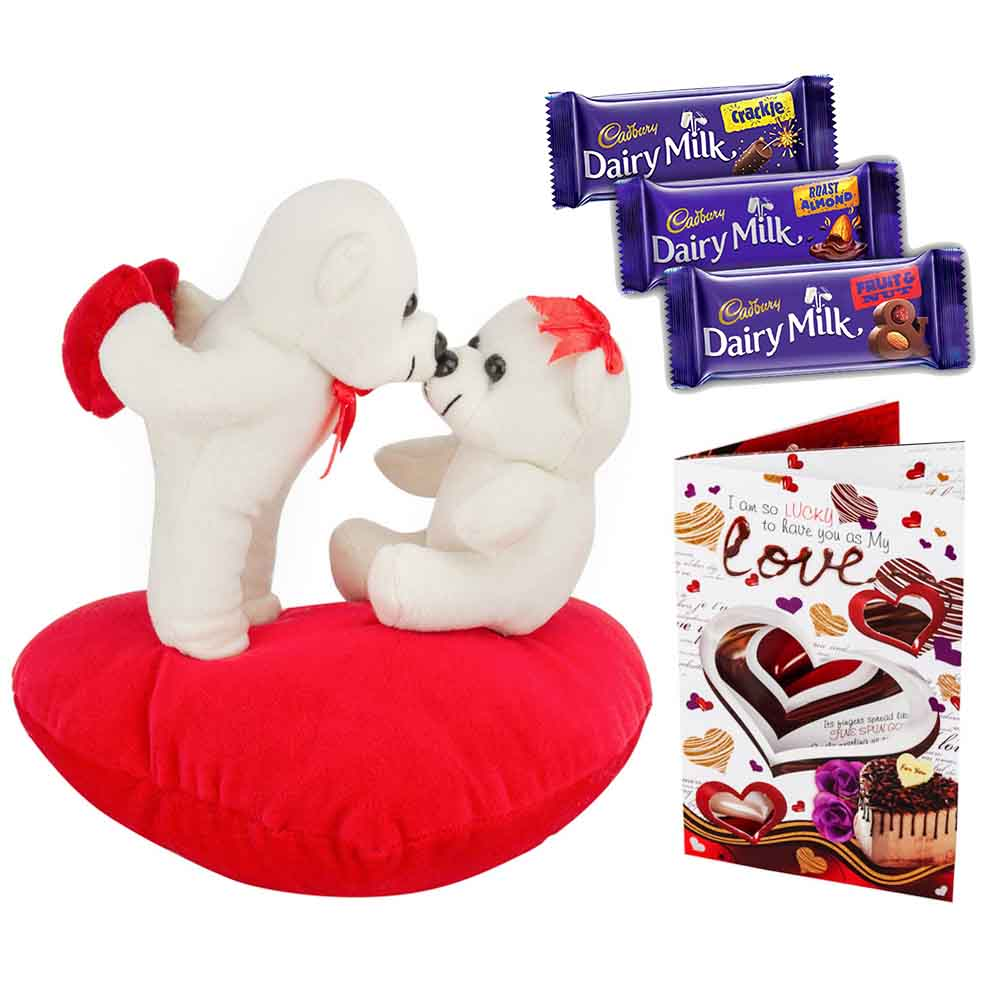 Set of 3 Cadburys chocolates with Kiss Me Teddys