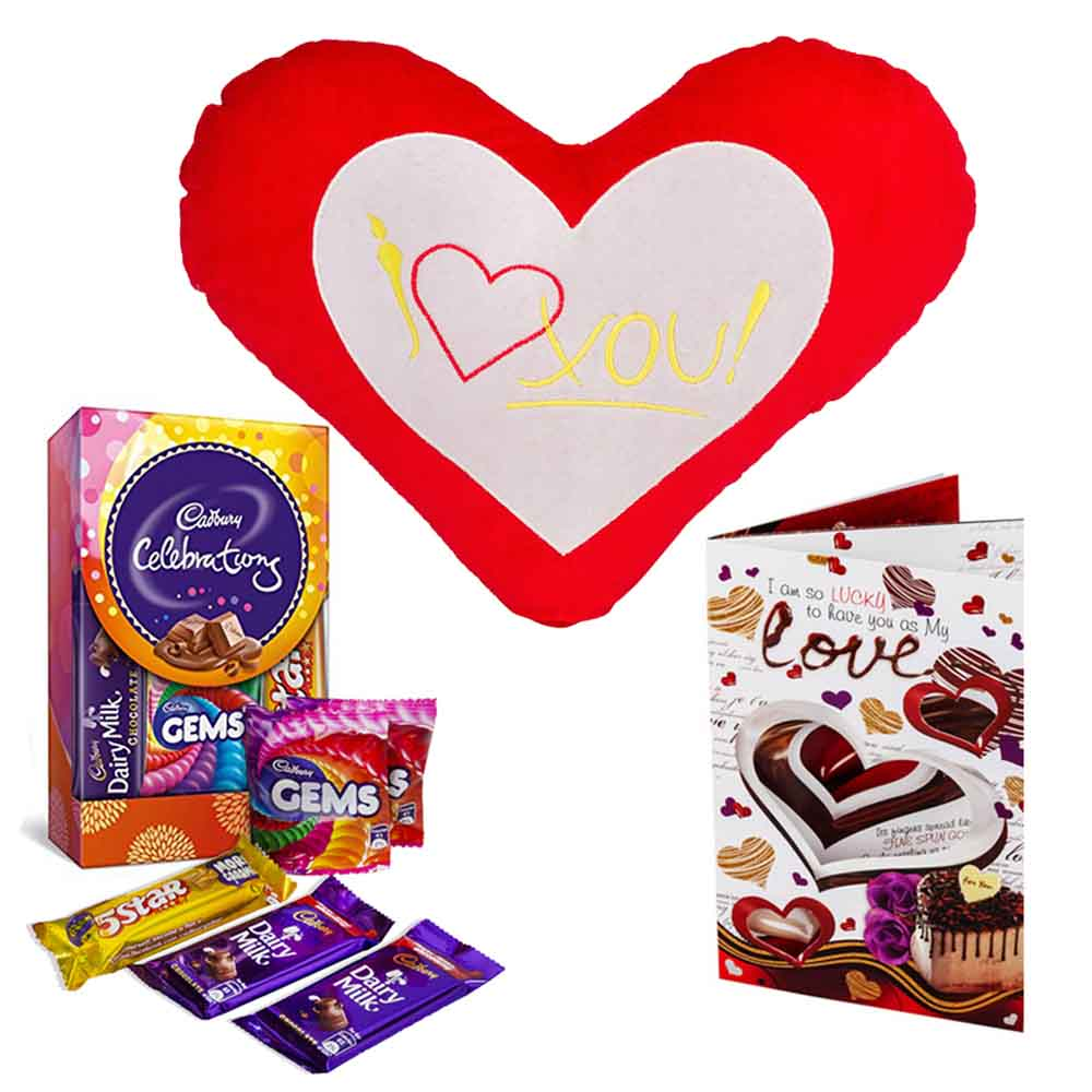 Cadburys Celebrations with Stuffed Plush Heart