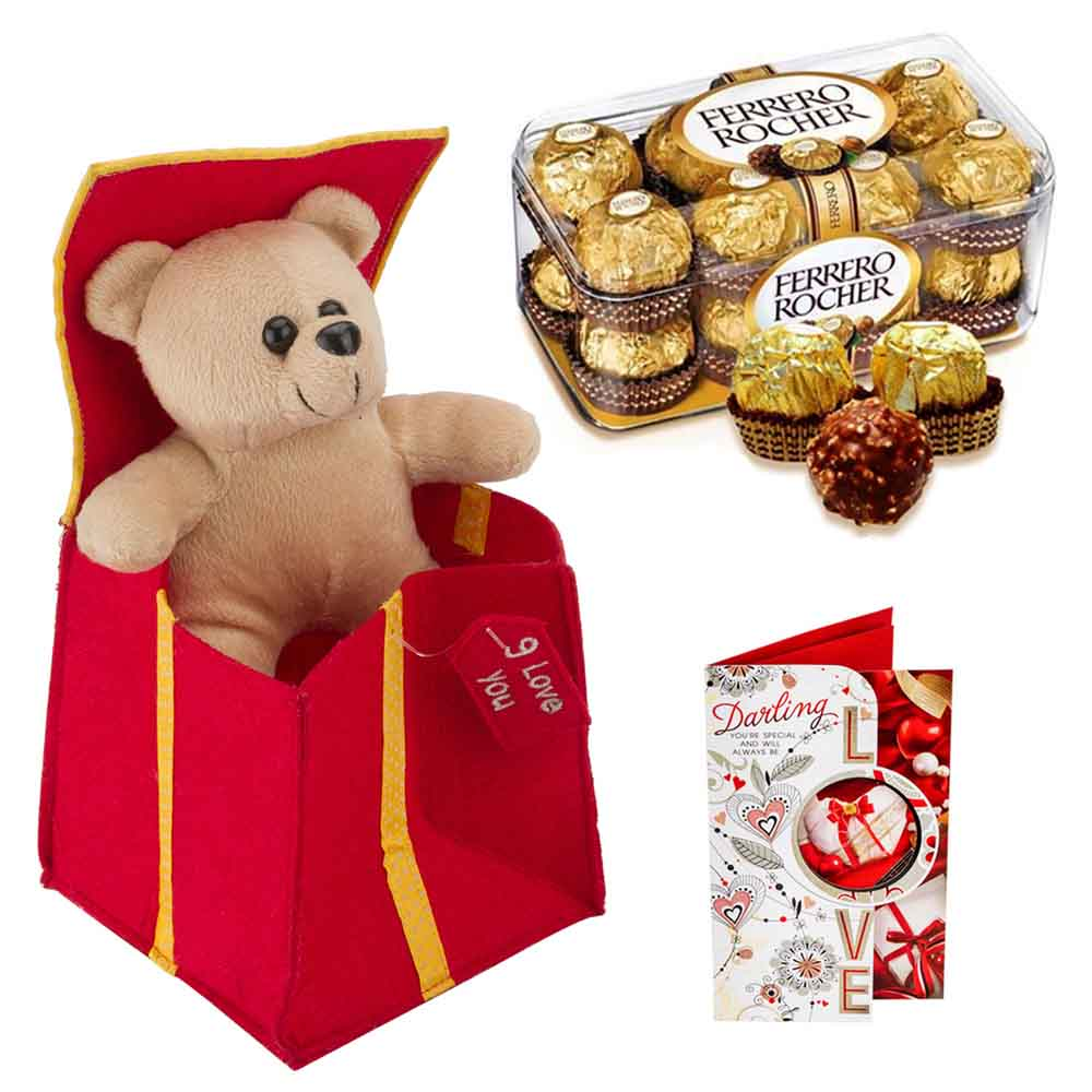 Ferero Rocher withStuffed Plush Heart
