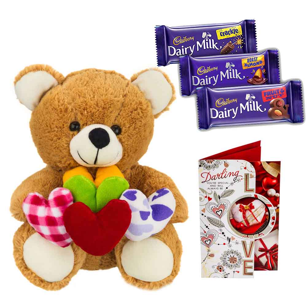 Cadburys Chocolates with Bear holding hearts