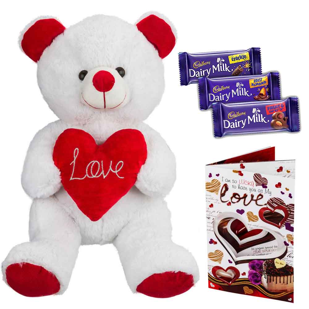 Cadburys Chocolates with White n Red Grand Bear