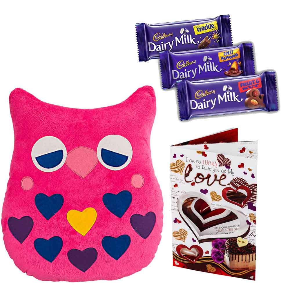 Cadburys Chocolates with Drowzy Owl with Heart