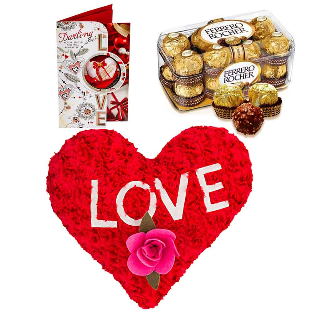 Ferero Rocher with Flowery Heart
