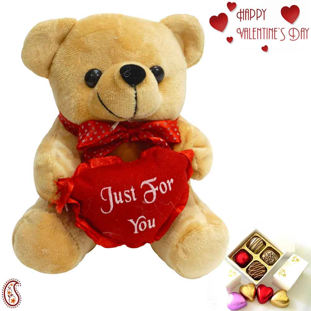 Sweet Teddy with Just for You Message