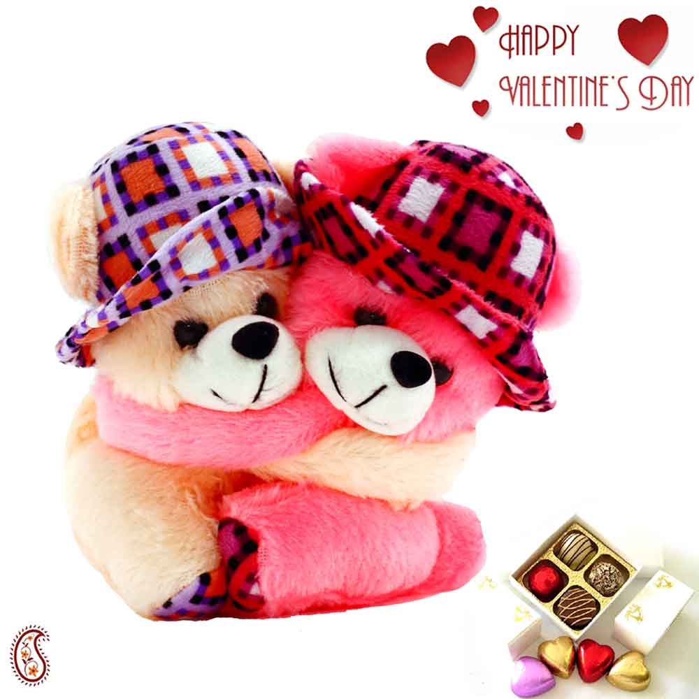 Beautiful Twin Teddy Soft Toy for Valentine