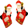 Santa Candles - Set of 2
