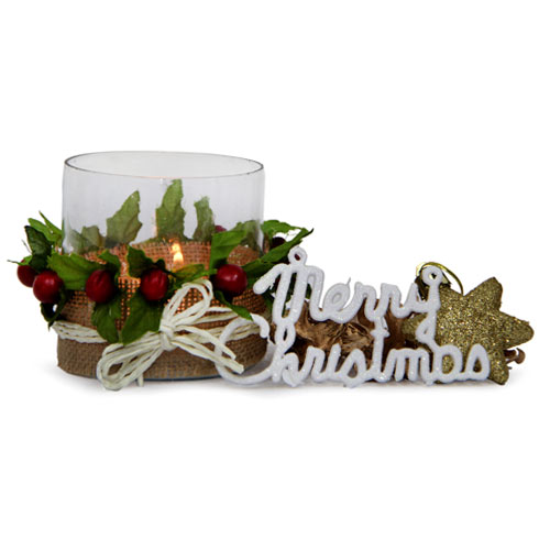 Christmas Hampers-T Light Holder For Christmas