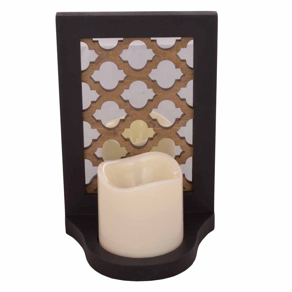 Charming Tealight Holder with Mirror Art!