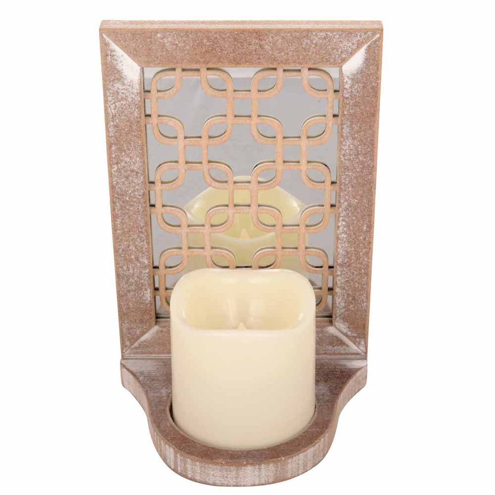 Attractive Tealight Holder with Artistic Mirrow Work!