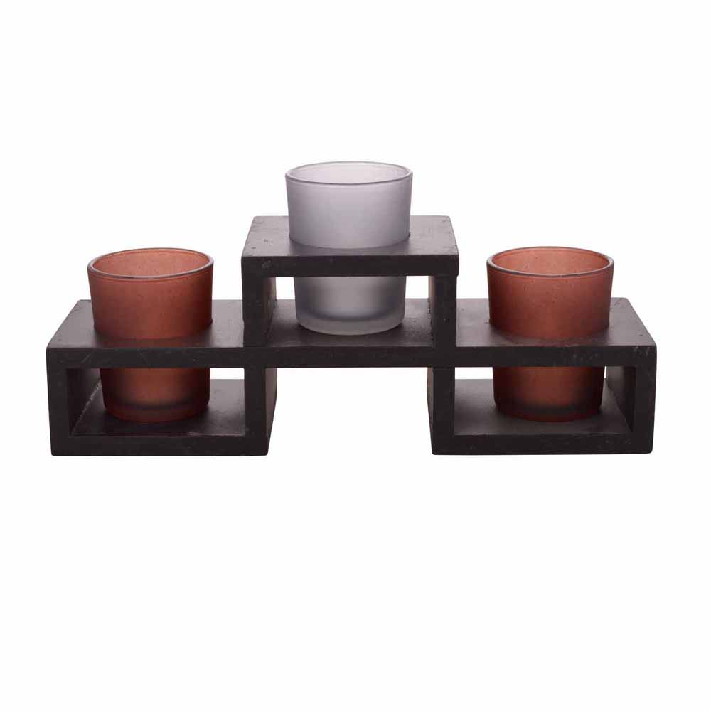 Beautiful Solid Tealight Holders with Tray!