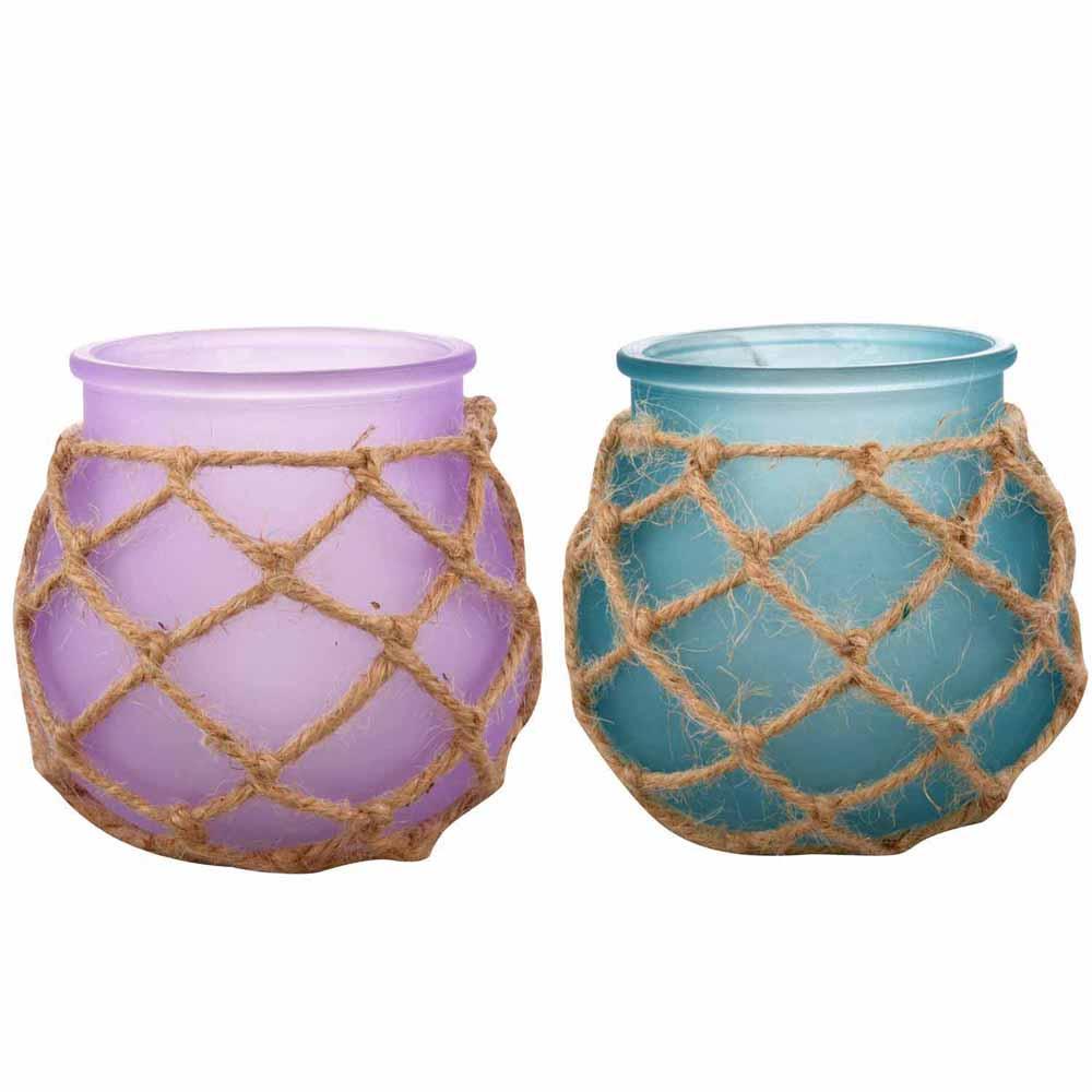 Purple & Blue 2 Pot Shape Tealight Holders!