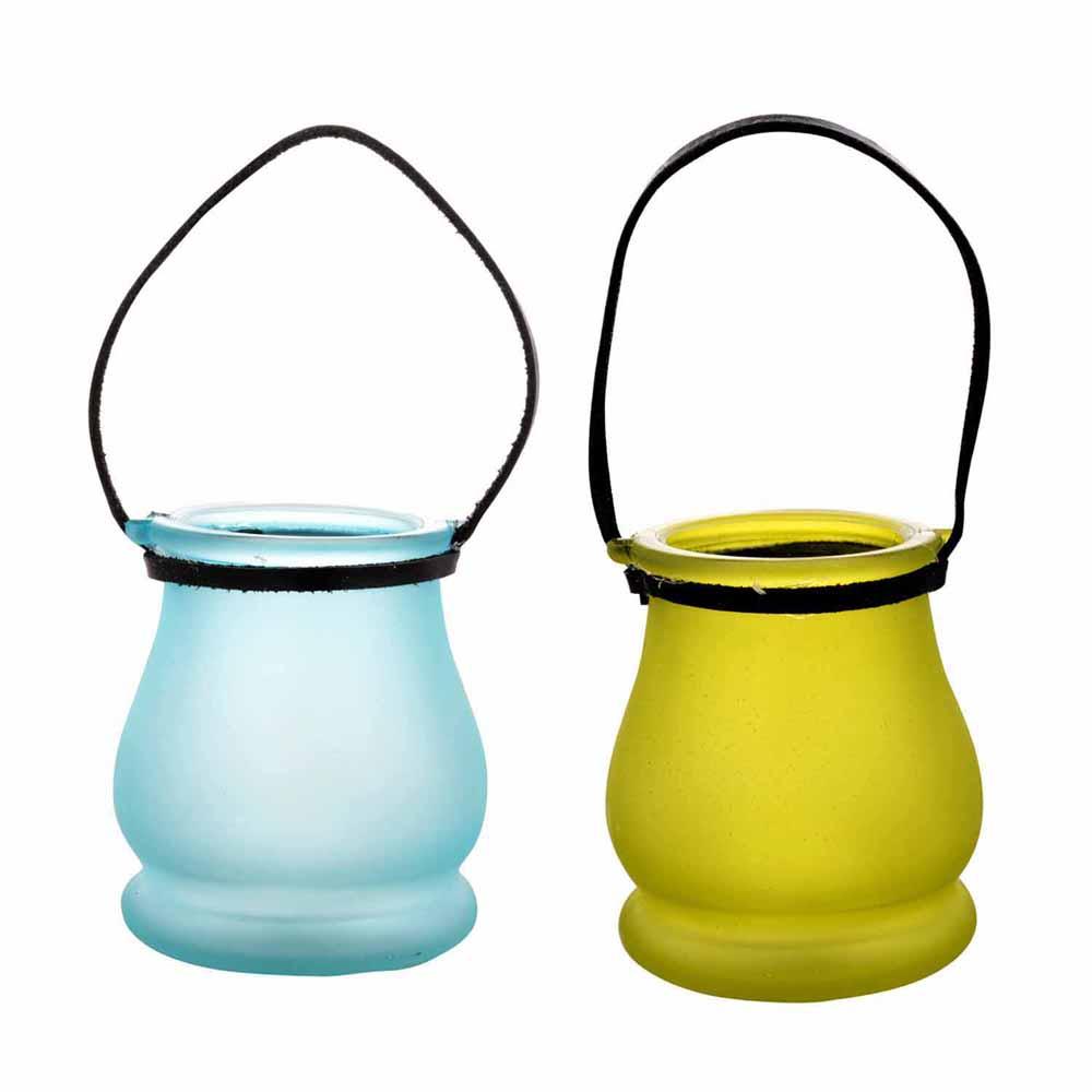 Green & Blue 2 Lantern Style Tealight Holders!