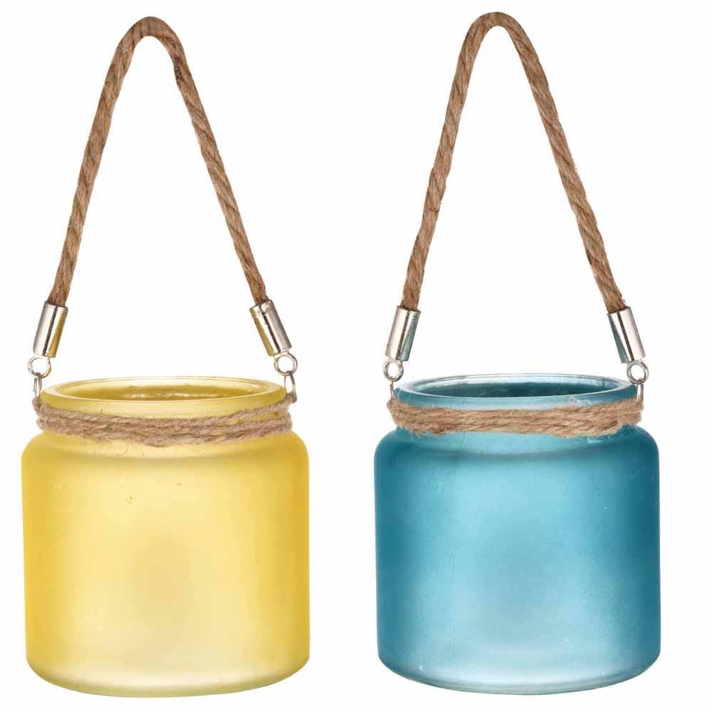 Yellow & Blue 2 Hanging Bucket Style Tealight Holders!