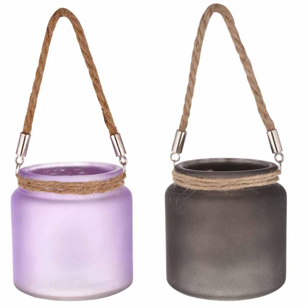 Purple & Black 2 Hanging Bucket Style Tealight Holders!