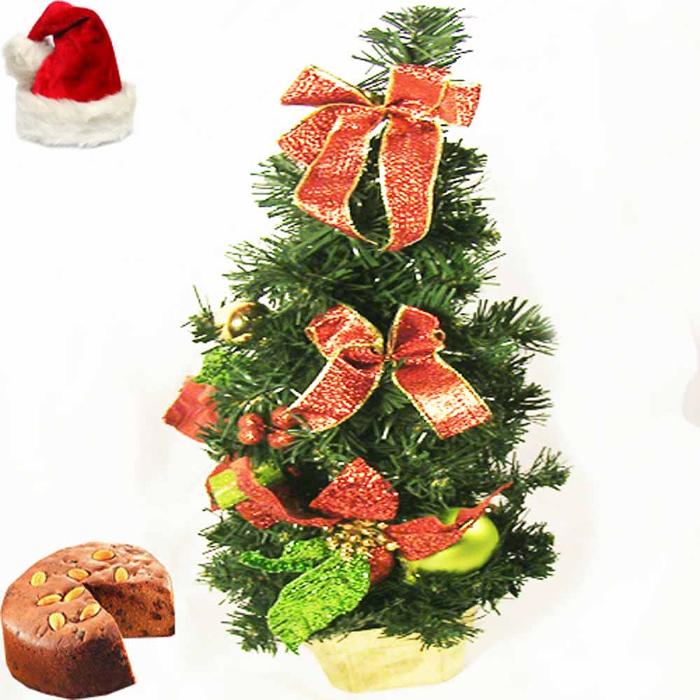 Decorated Tree with Plum Cake