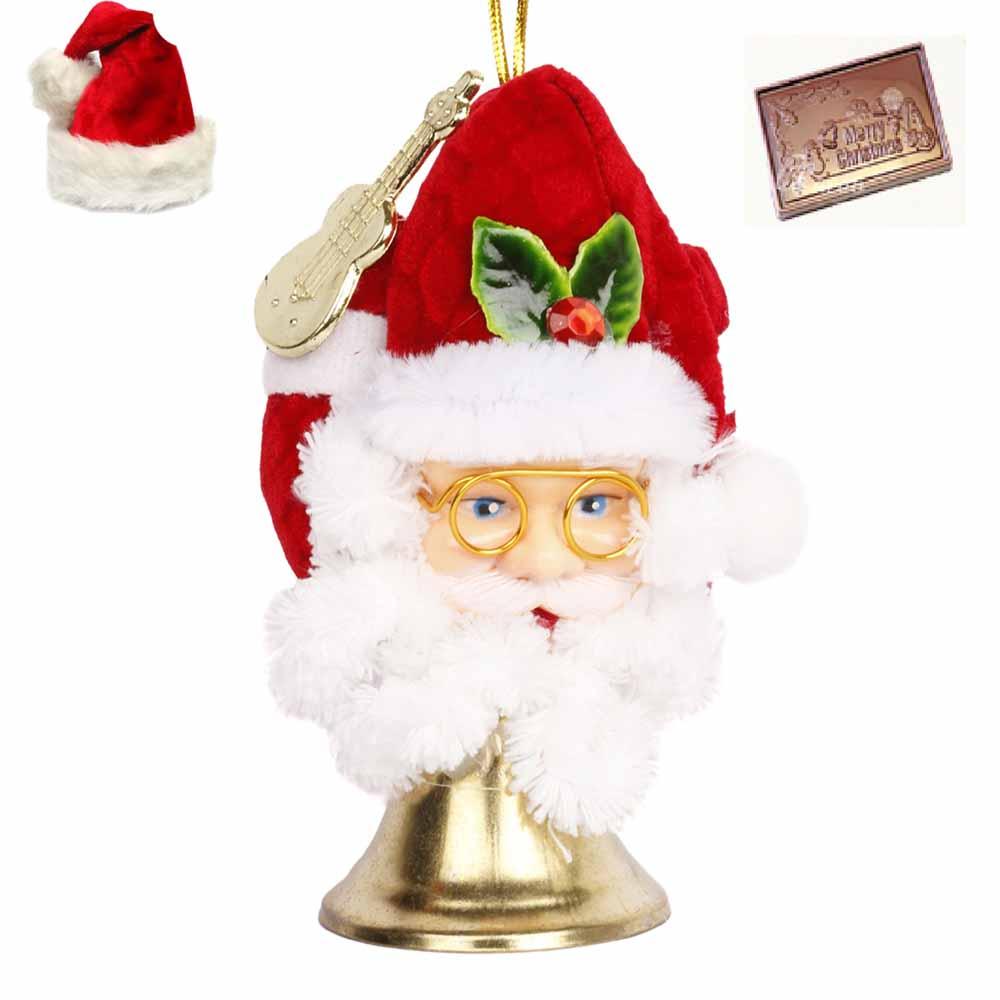 Santa Ringing Bell with Christmas Chocolate Bar